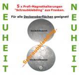 """5 x Profi Magnethalterung für Rauchmelder """"Schraubklebding®"""" für alle Decken auch Rauhfaser."""